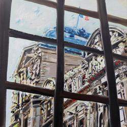 Vue du Louvre été 2020 huile sur toile 30 x 30 cm 2021