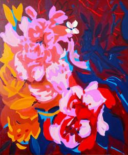 « Interlude floral/3 » Huile sur toile, 55 x 46 cm, 2020