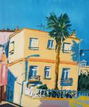 Vue de Keroman huile sur toile 55 x 46 c