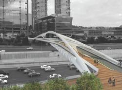 הדמיית גשר יהודית/ הדמיה: חן אדריכלי