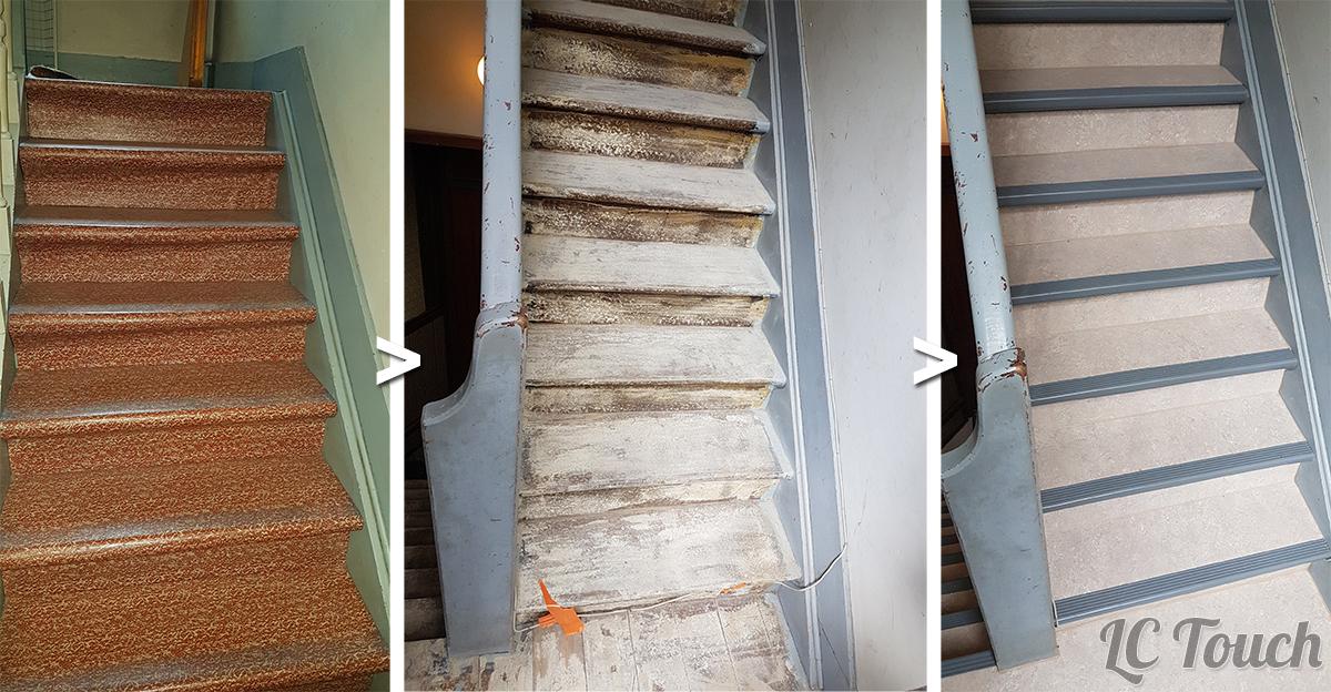 Rénovation des Marches d'Escalier