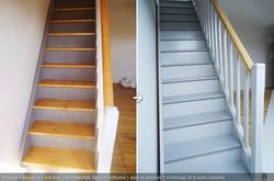 Peinture d'un ancien escalier