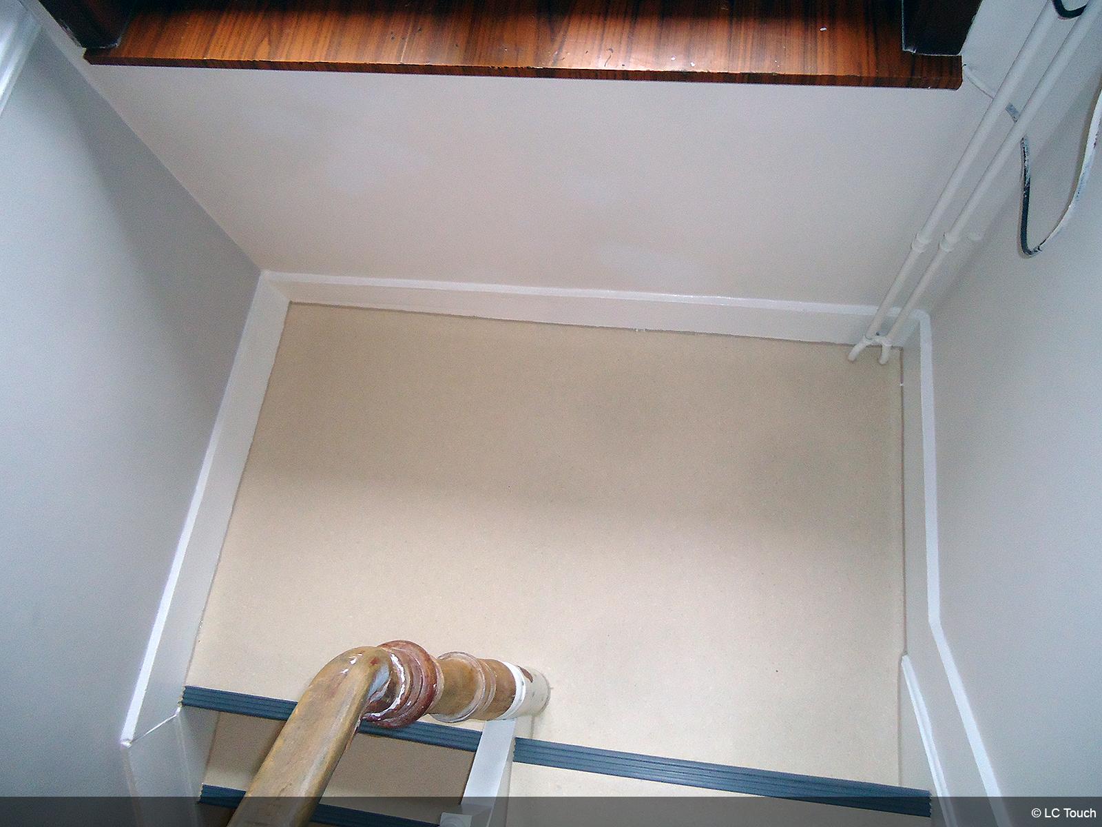 Palier d'une cage d'escalier