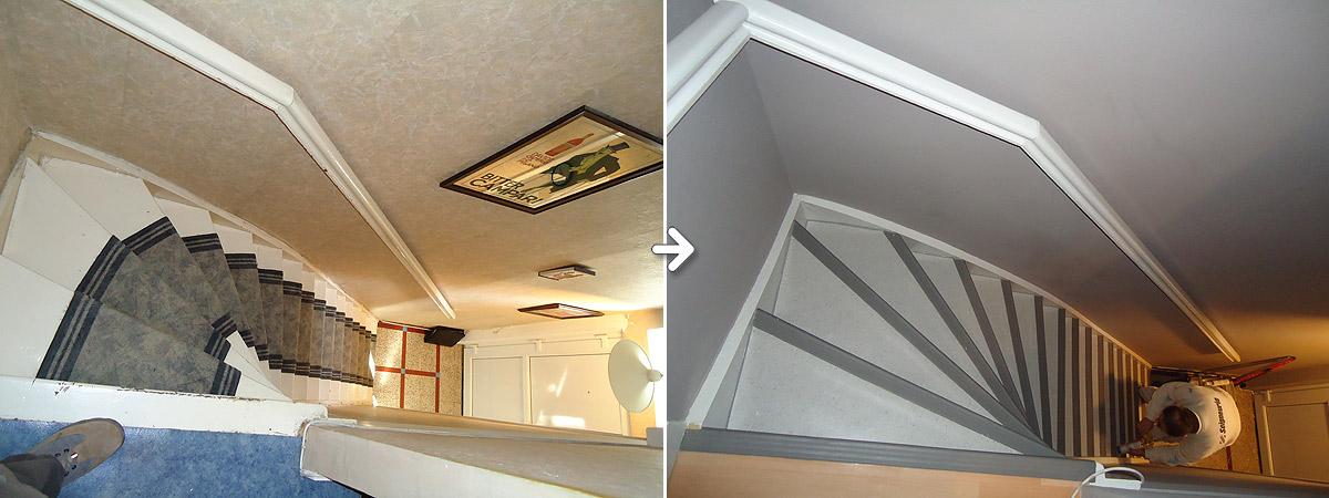 Escalier: Avant / Après