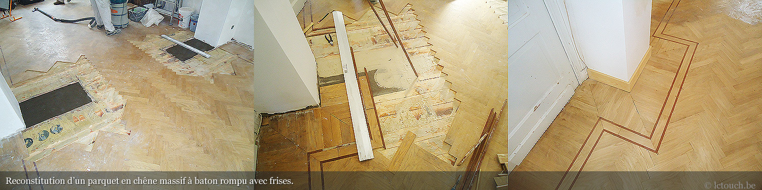 Rénovation d'un parquet