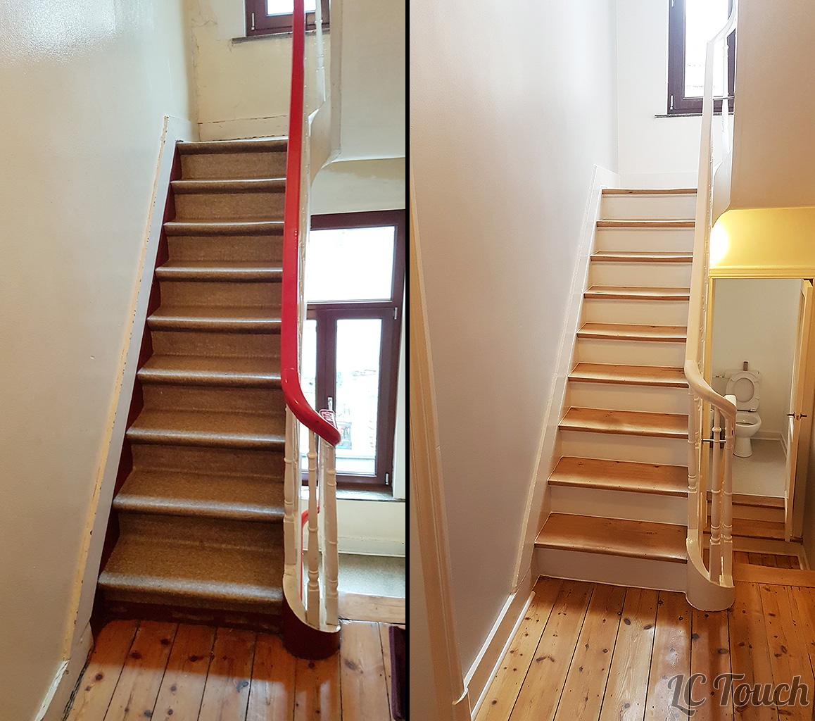Restauration d'un escalier