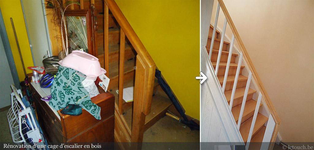 Ponçage et Peinture Escalier