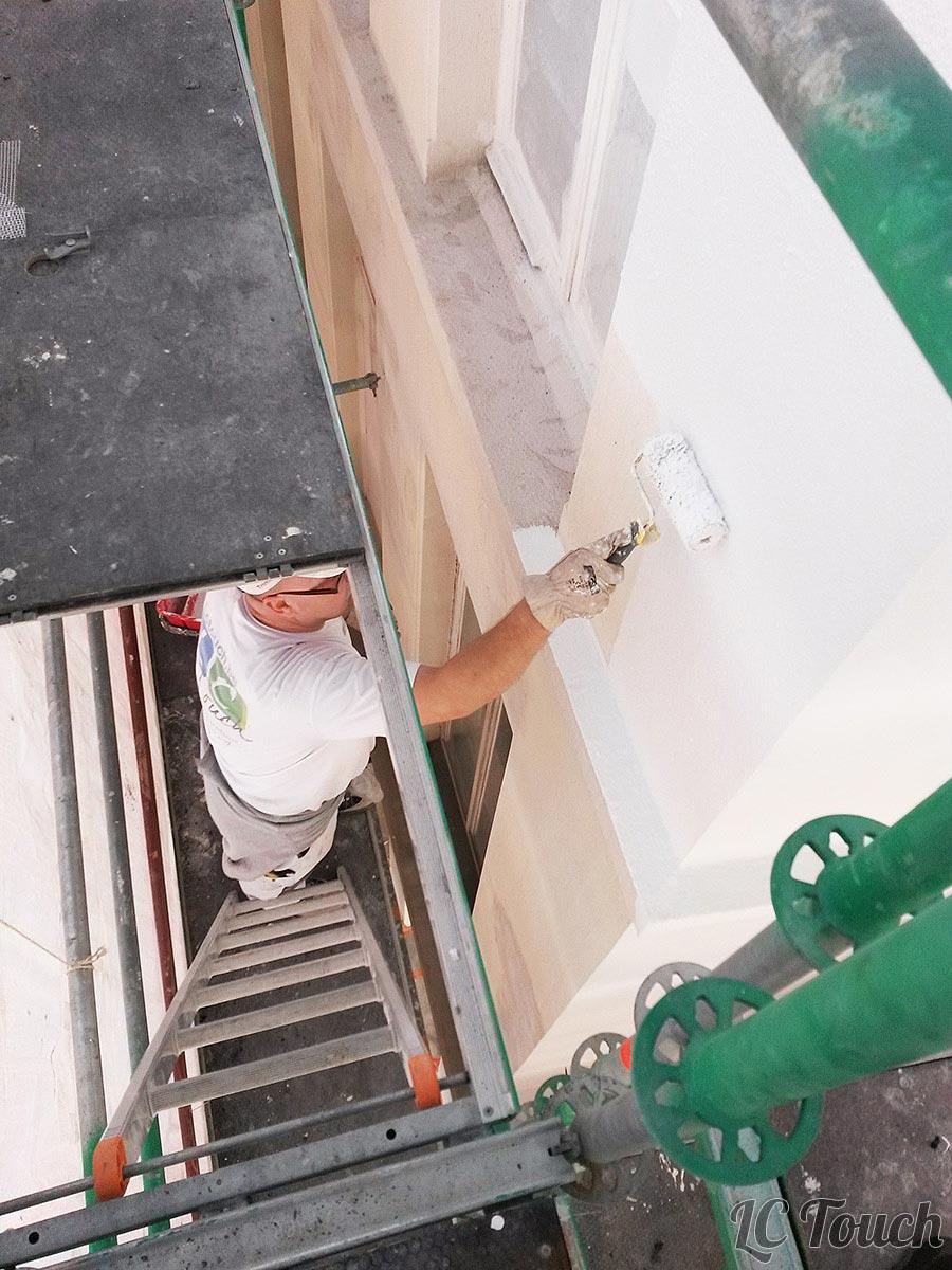 Réparation et Peinture d'une Façade
