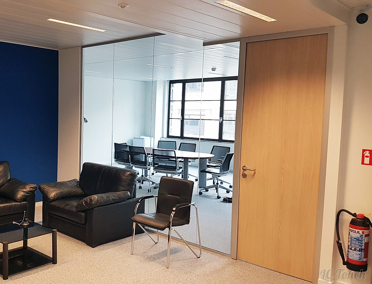 New Glass partitions