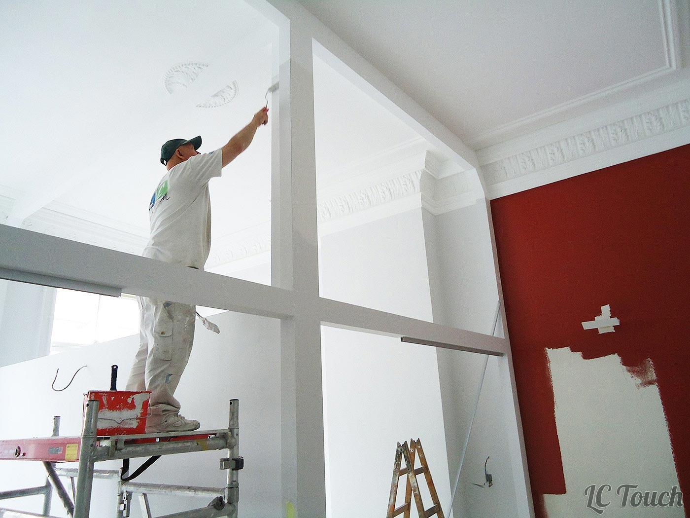 Peinture d'un espace de bureaux