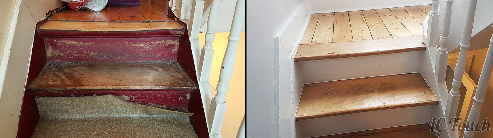 Escalier Avant Après