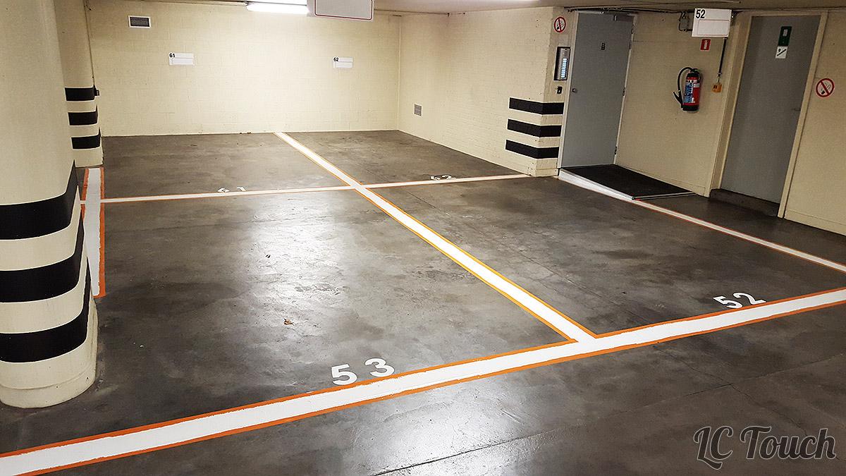 Peinture de sol pour parking