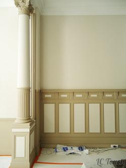 Mur et colonne décoratif