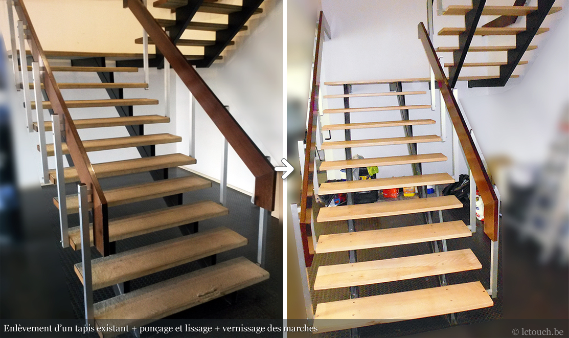 Rénovation escalier d'entreprise