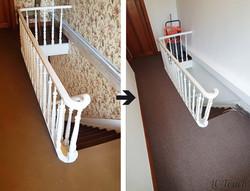 Renovation-escalier-tapis-peinture
