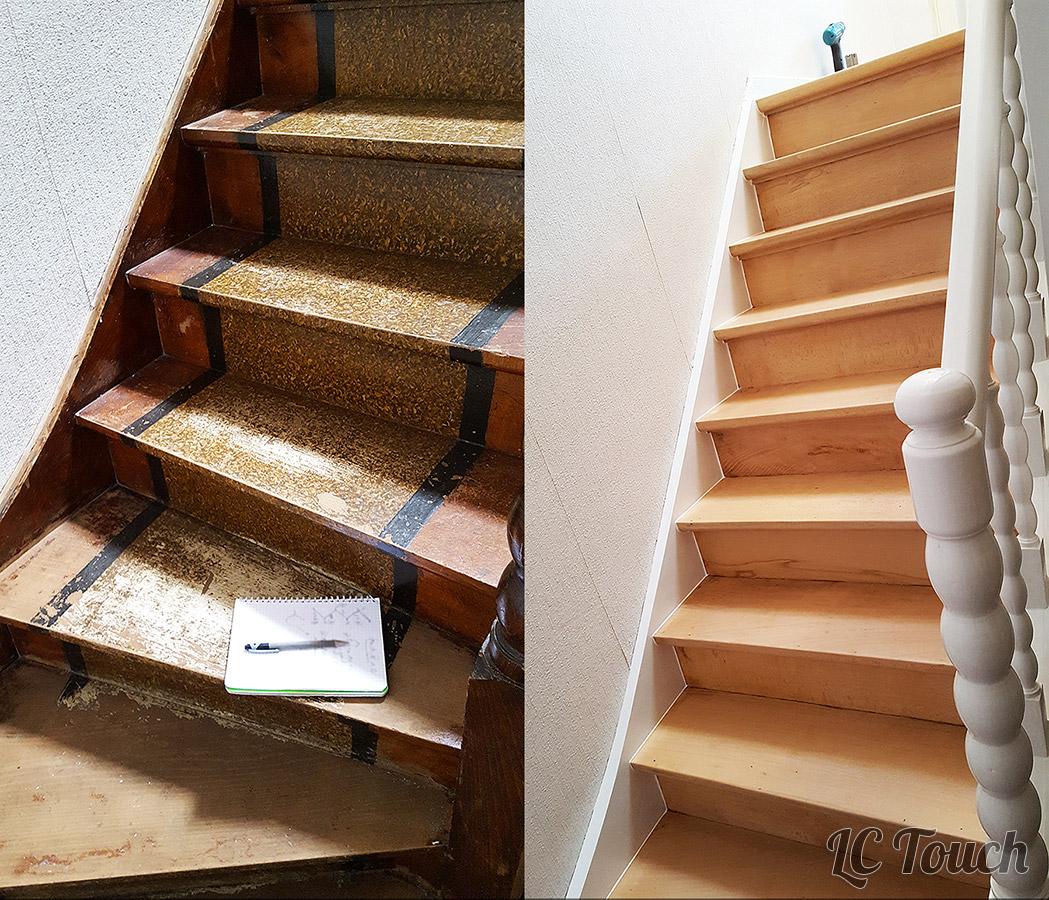 Décapage et Peinture d'un Escalier