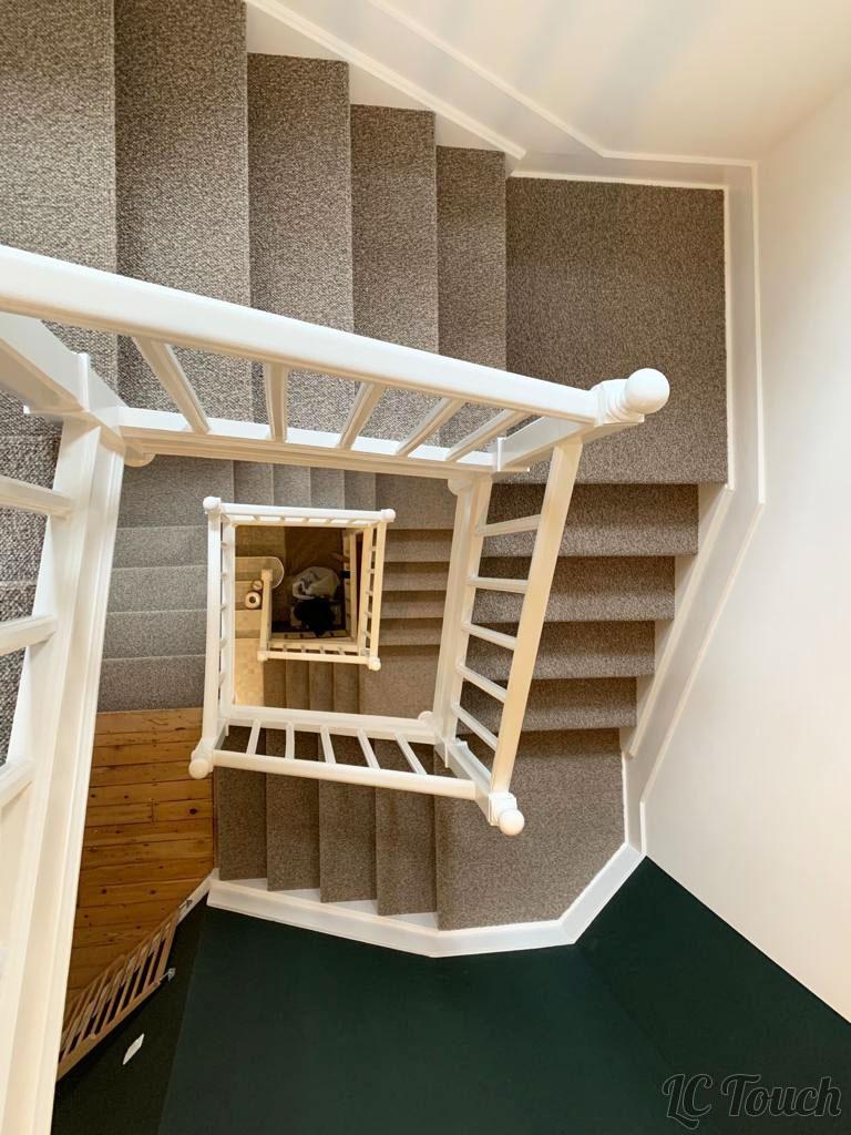 Tapis et peinture escalier