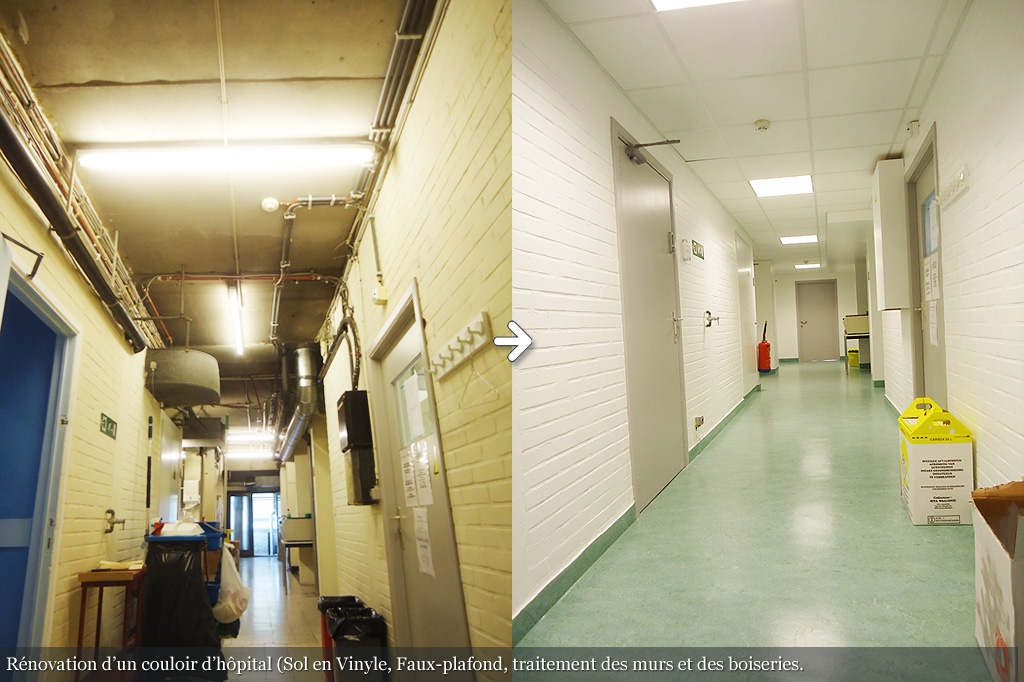 Rénovation d'un couloir d'hopital