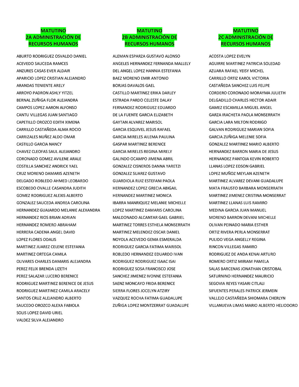 LISTAS PARA PUBLICAR MATUTINO 14 FEBRERO