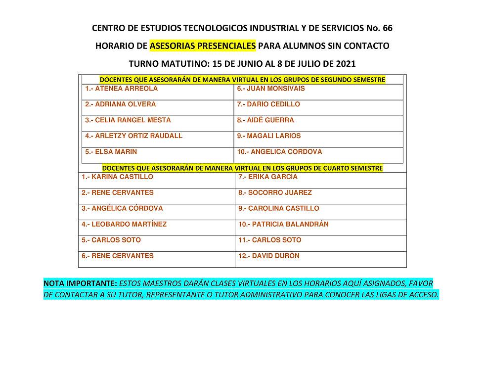 TURNO MATUTINO_HORARIOS DE ATENCION PRES