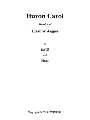Huron Carol SATB - Cover Page - 2020-11-
