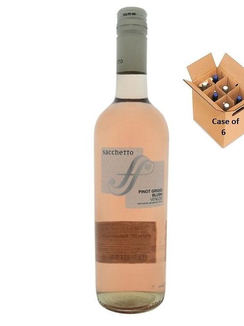 Pinot Grigio Blush delle Venezie 2019, Sacchetto, Veneto,case of 6