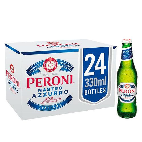 Peroni Nastro Azzurro Premium Lager 24x 330ml Bottles