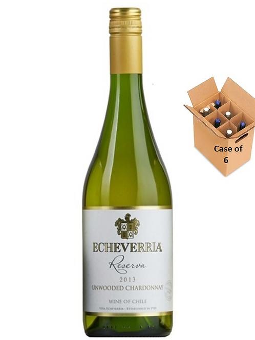 Unwooded Chardonnay 2018, Viña Echeverría, Reserva, Valle de Curicó