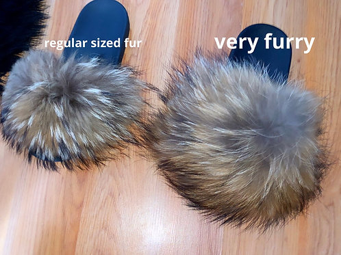 Very Furry Raccoon Slides