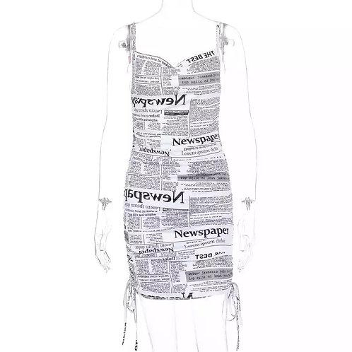 """Yesterday's Paper"" Dress"