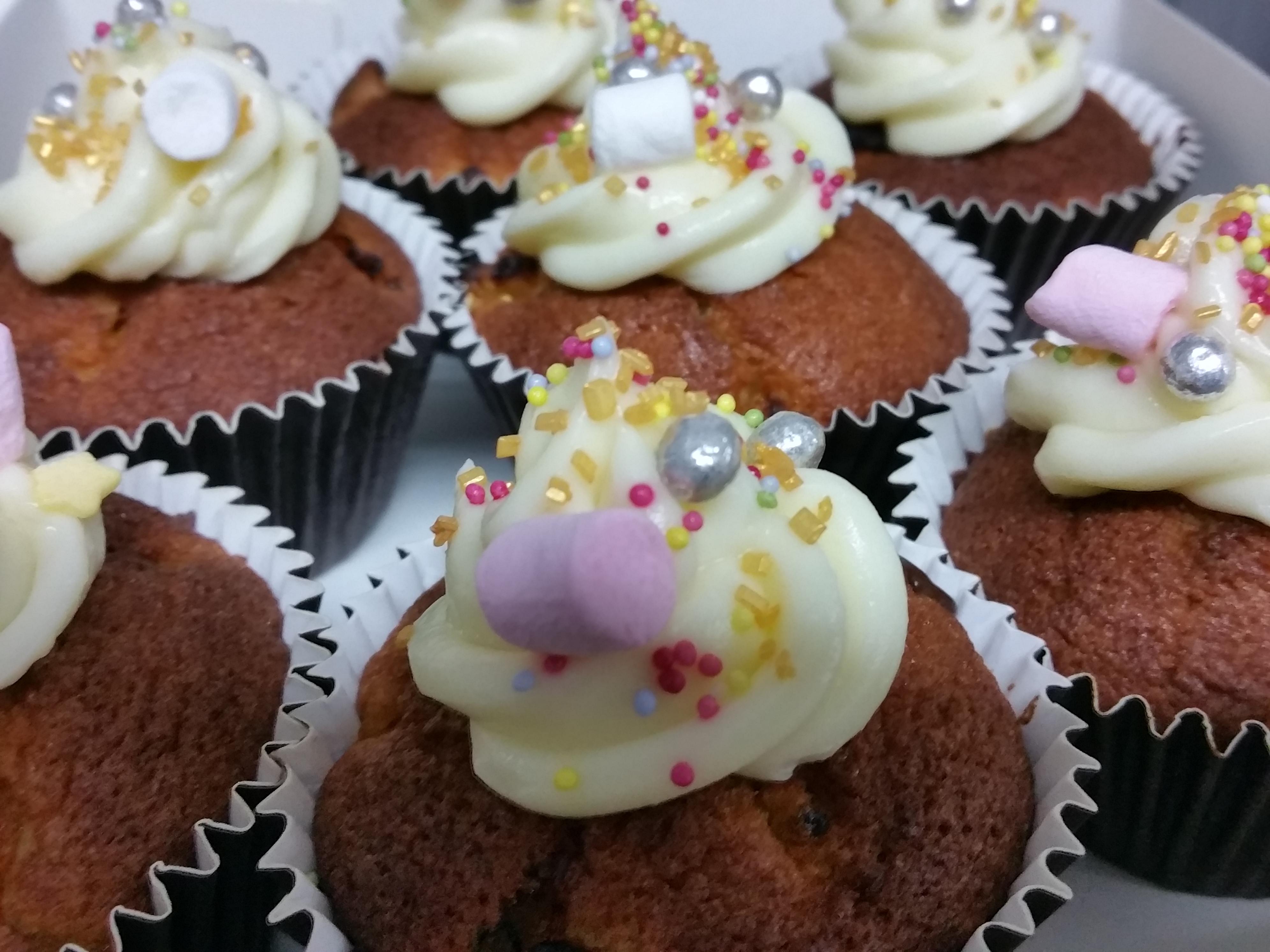 Cupcakes abricots noisettes