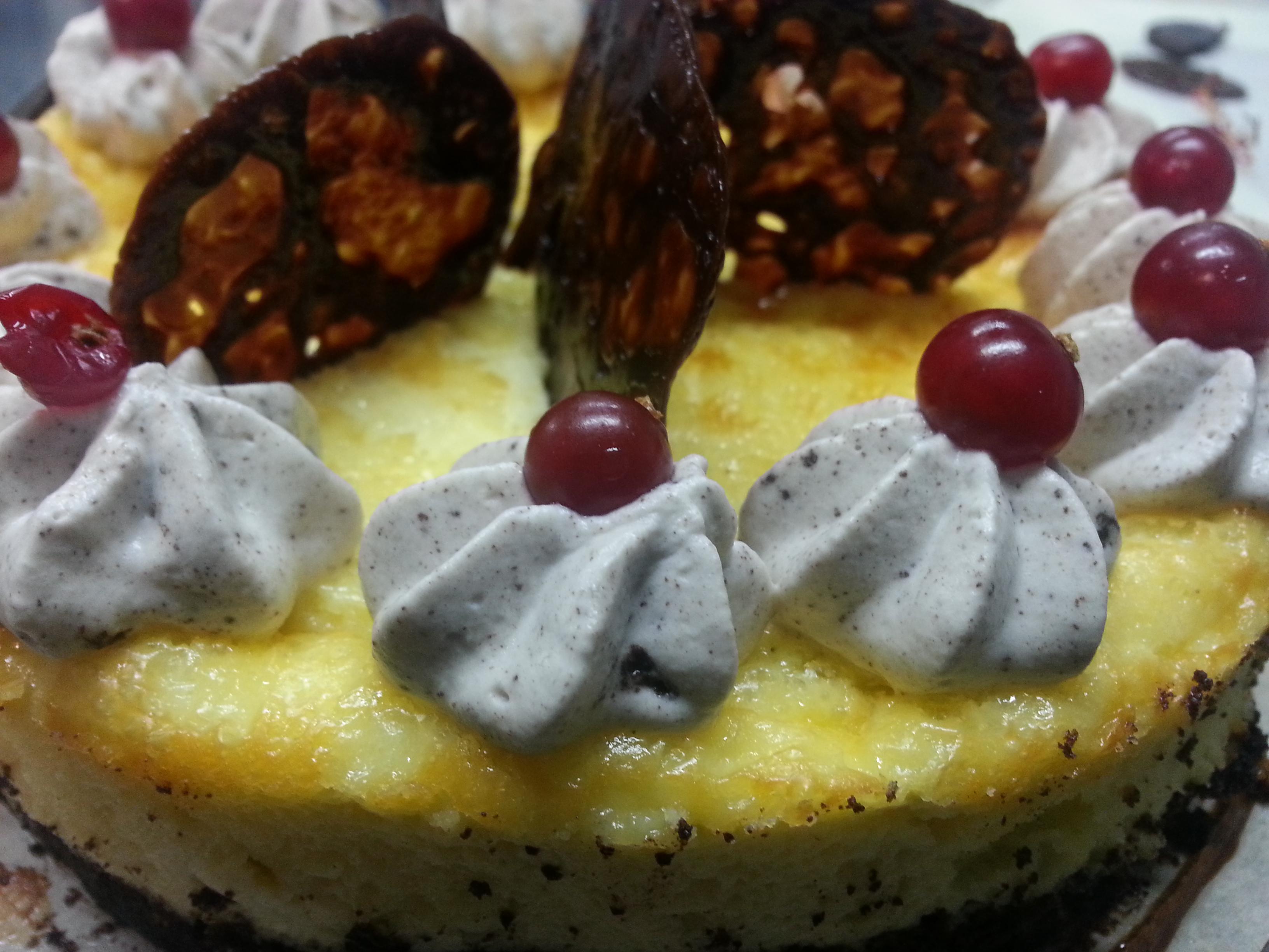 Cheese cake oreo, tuile carambar