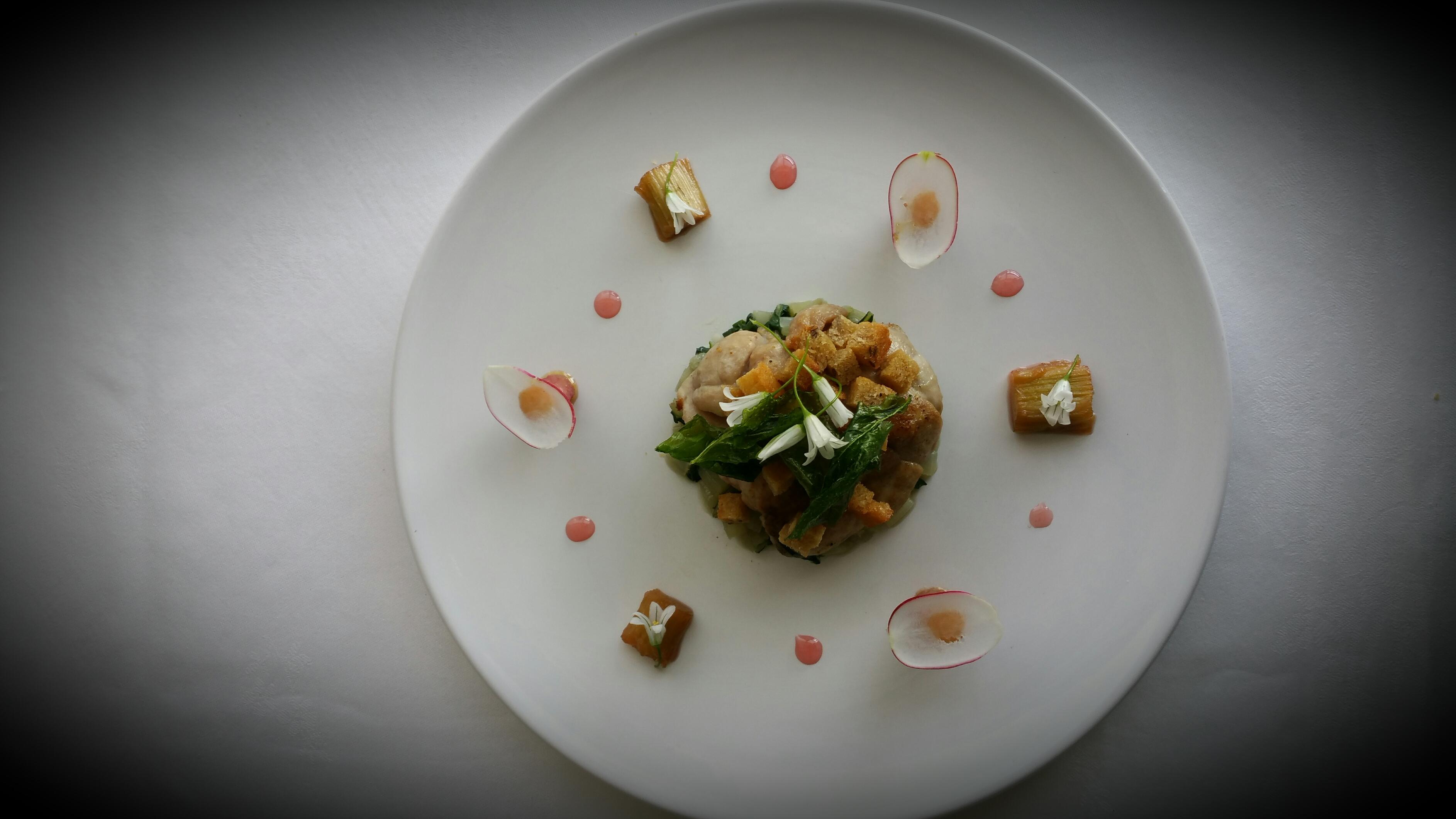 Ris de veau rhubarbe et radis