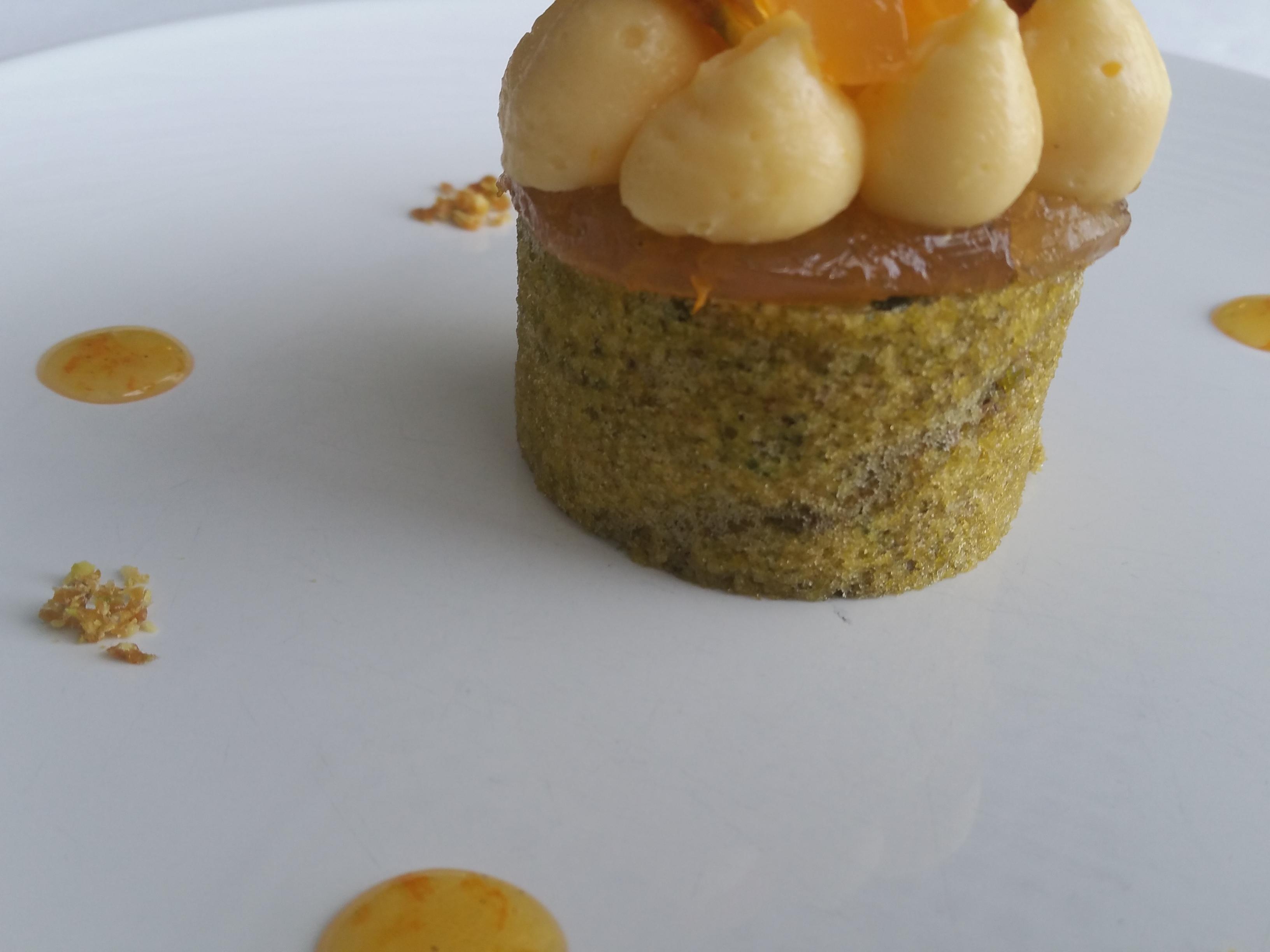 Clémentine, biscuit thé vert Matcha