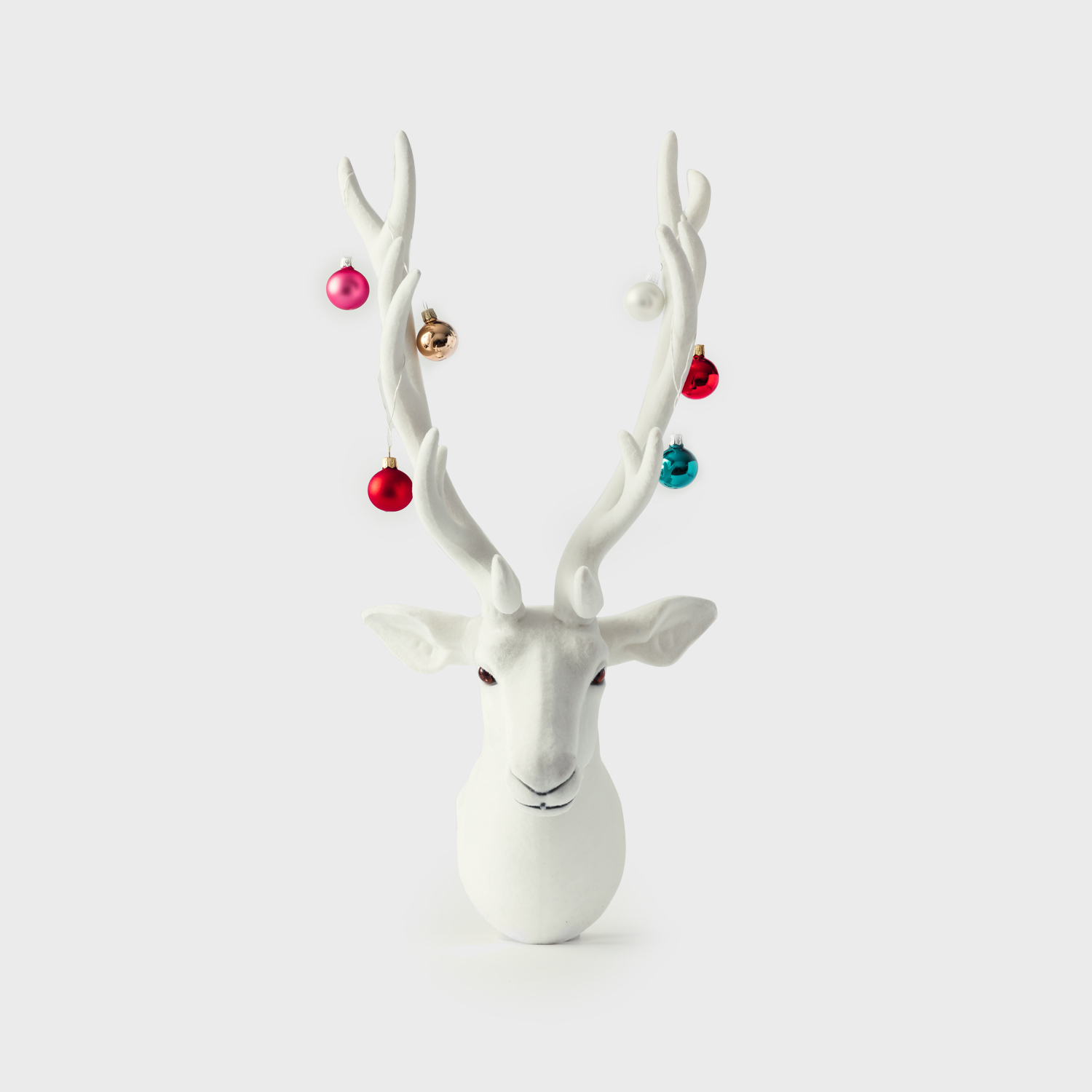 Decorated Antler with Christmas ornaments on his antlers modern desing for home lolio101