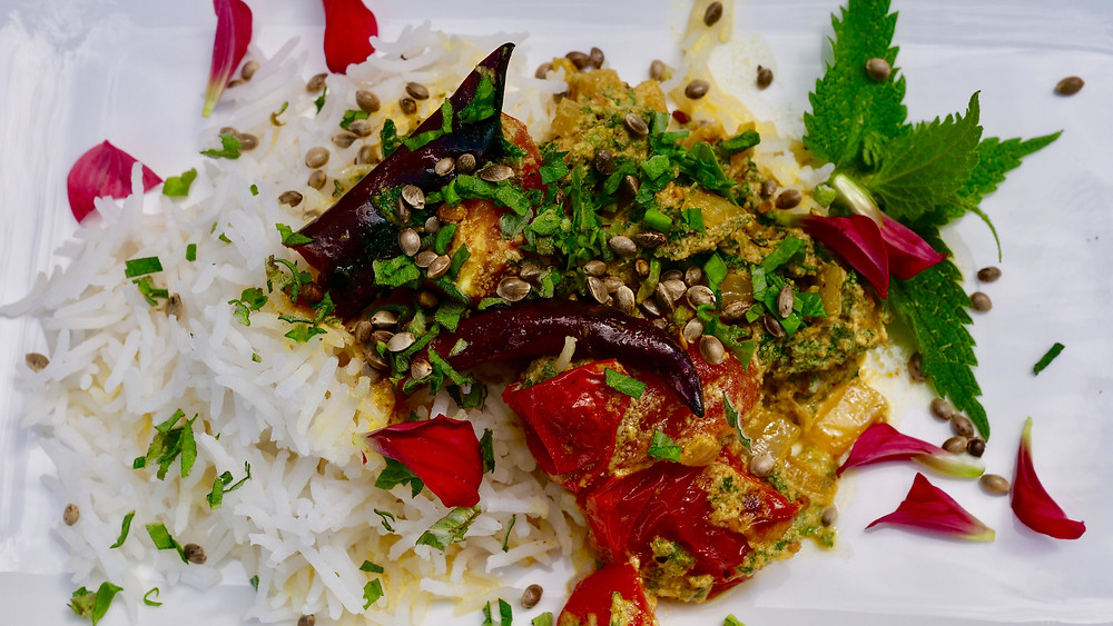 Stinging Nettle curry