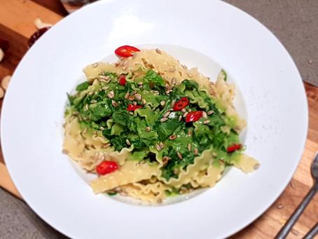 Séier Spinat-Malfadini (vegan)