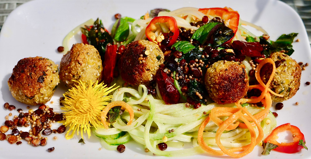 Lentil quinoa balls vegan