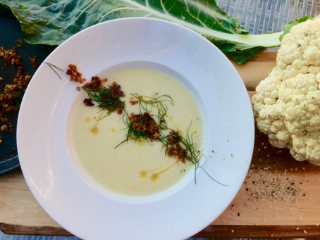 Quick and Easy Cauliflower and Hemp Soup (vegan)