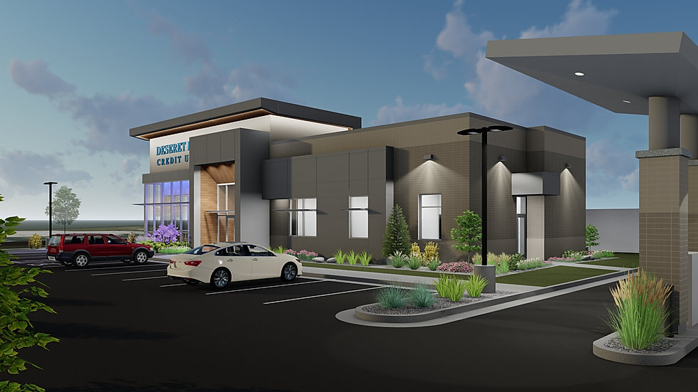 The Deseret First Credit Union Bountiful Branch is just one of many current projects Zwick Construction is building in Utah and California.