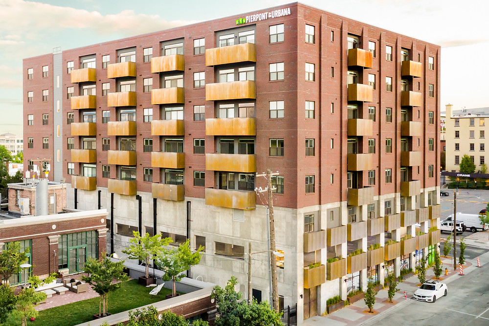 Finished nearly one year ago, the Pierpont Lofts by URBANA bring needed housing to Salt Lake City, UT.