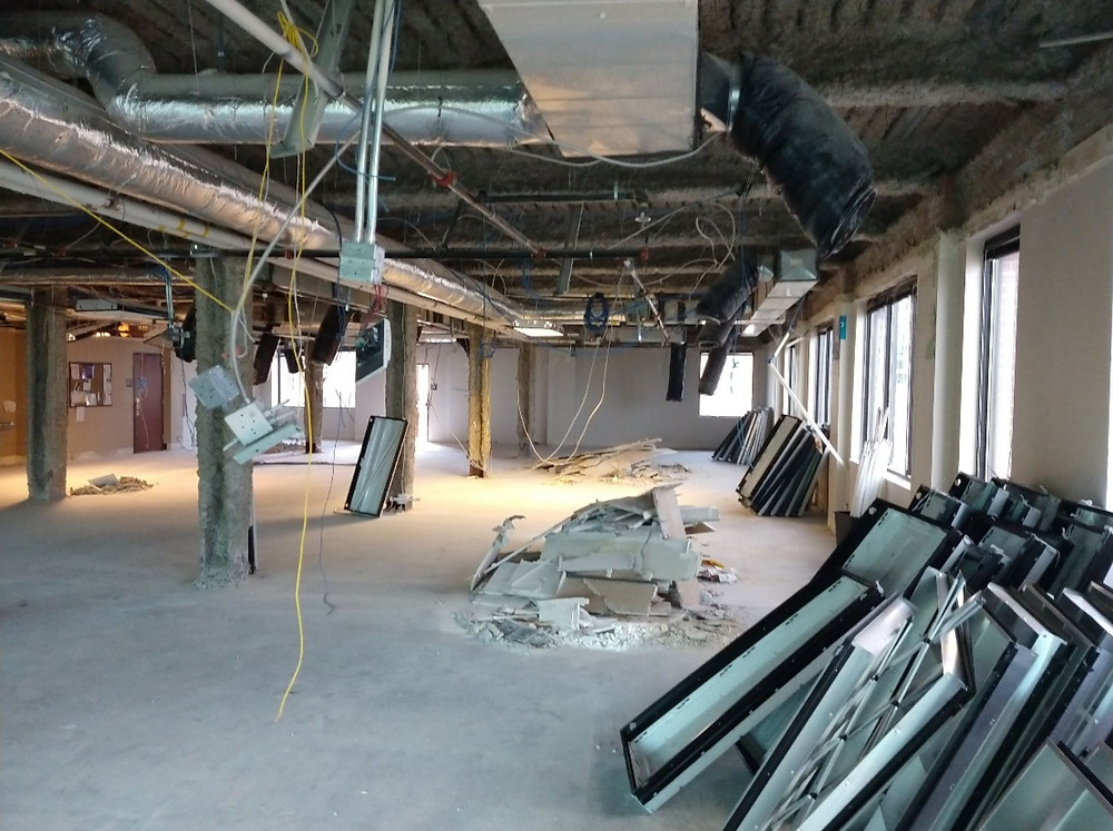 The owners of the former Deseret Book hired Zwick Construction to complete this interior demolition.
