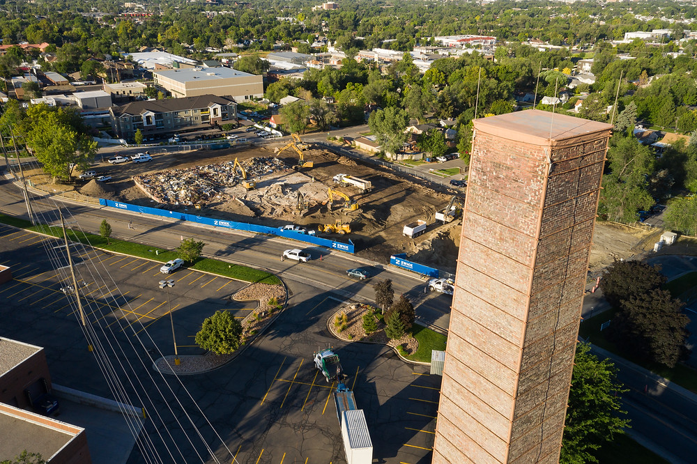 Located next to a historic brick stack, The Stack Apartments just began construction by the Zwick Construction Salt Lake City team.