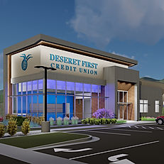 The Deseret First Credit Union Bountiful Branch is just one of many current projects that Zwick Construction is working on in Utah and California.