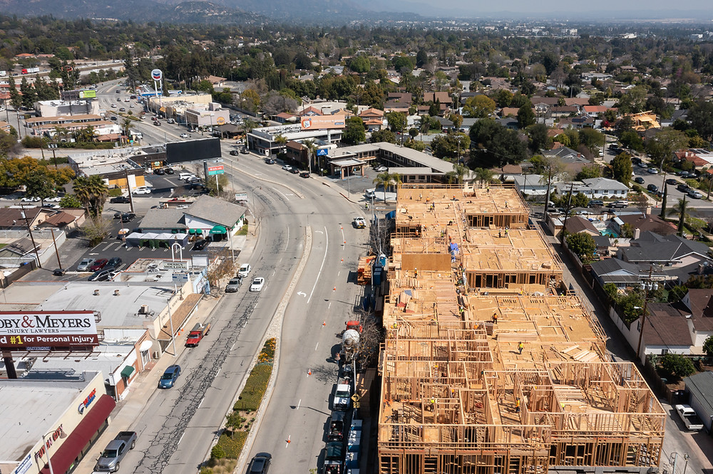 Zwick Construction is currently working on the 3768 Colorado Boulevard Apartments in Pasadena, CA.