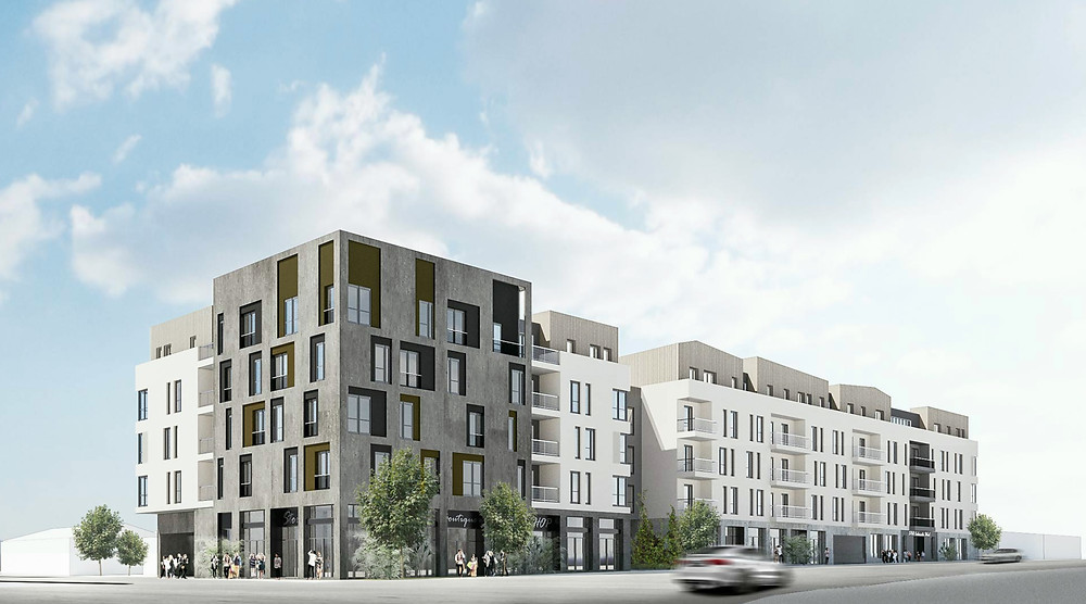 3768 Colorado Boulevard is a mixed-use building that contains 100 apartments, along with 4,500 SF of retail space.