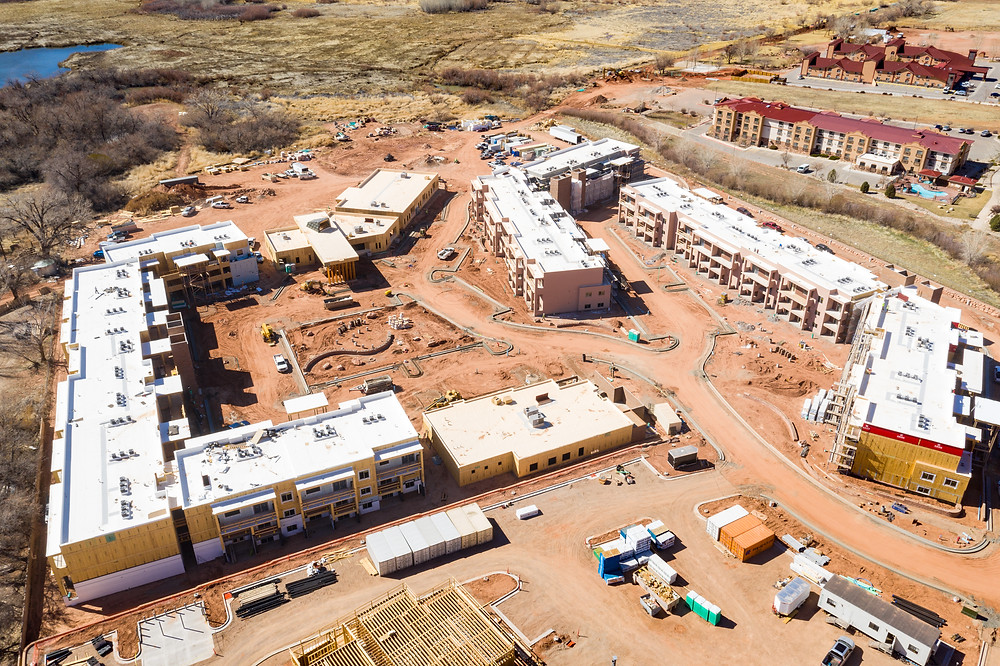 Zwick Construction is about 60% complete with this large-scale project in Moab.