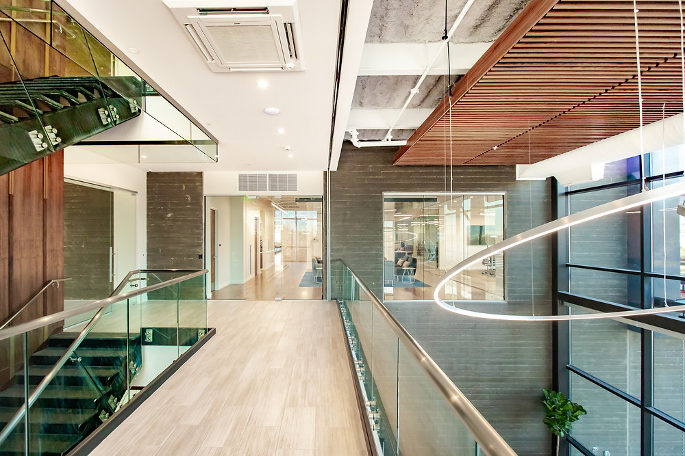 "The International Interior Design Association (IIDA) Intermountain Chapter awarded Onset Financial, a Zwick Construction project, with the 2020 ""Work Over 15,000 SF"" Merit Award."