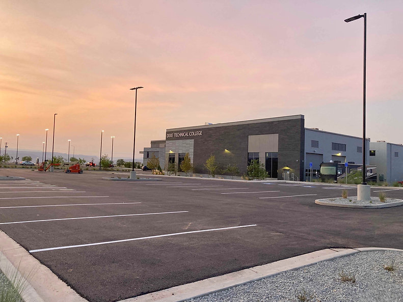 Zwick Construction has completed many educational construction projects throughout states like Utah, California, Nevada, and Arizona, including the Dixie Technical College Parking Lot and Landscaping project.