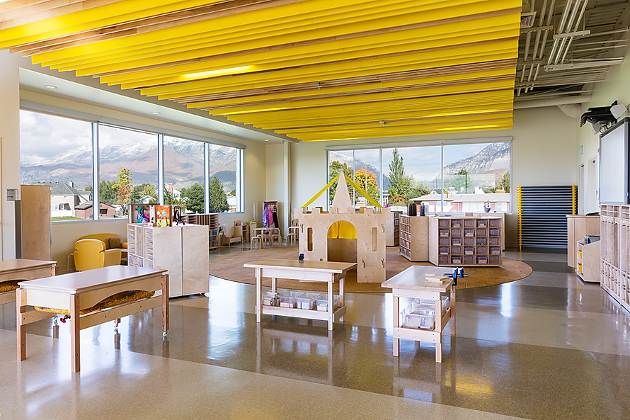 Zwick Construction has completed many education projects throughout states like Utah, California, Nevada, and Arizona, including the Utah Valley University Wee Care Center.